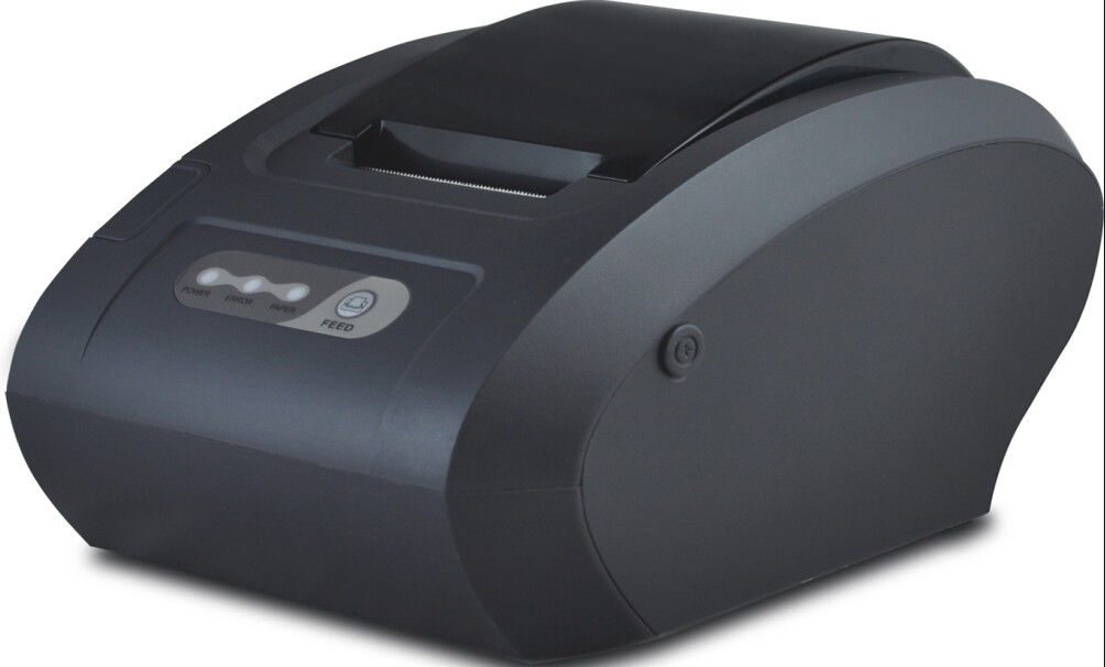 Portable 58mm Thermal Ticket Printer Big Roll Bucket 85 mm Diameter